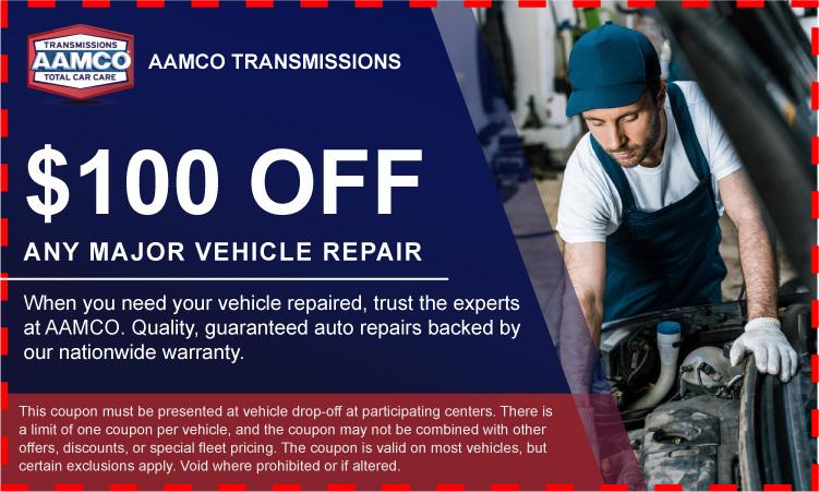 100 dollars off any major repair Coupon